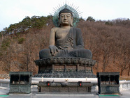 Album / Korea / Soraksan / Shinhungsa / Seated bronze Buddha