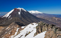 Album / New Zealand / Tramping / Tongariro / Mt. Ngauruhoe and Mt. Ruapehu 2